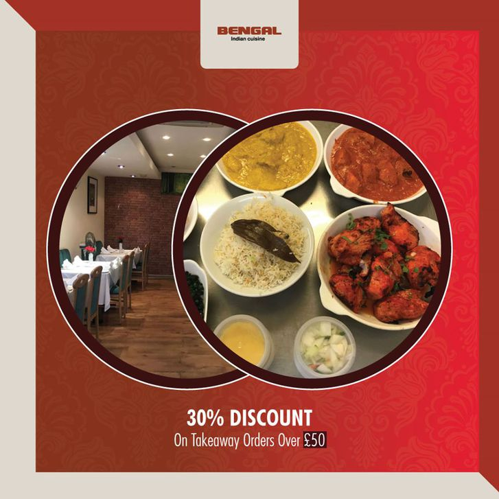 15% Discount on collection orders at Bengal Indian Other 2