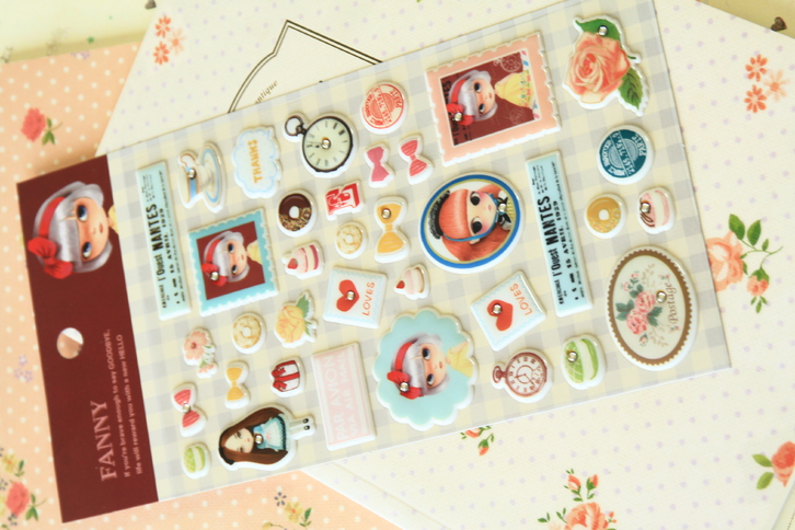 Fanny Girl Puffy Stickers  Toys & Craft 2