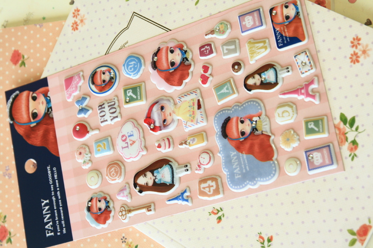 Fanny Girl Puffy Stickers  Toys & Craft 3
