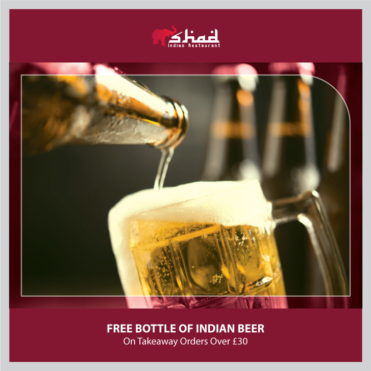 Free Bottle of Indian Beer from The Shad Indian! Other 2
