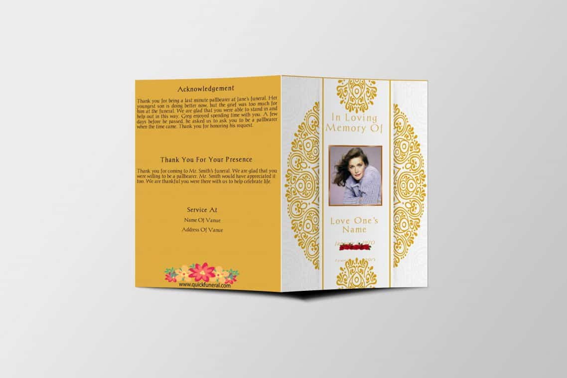 Funeral Program Template - Self Printable Funeral Programs