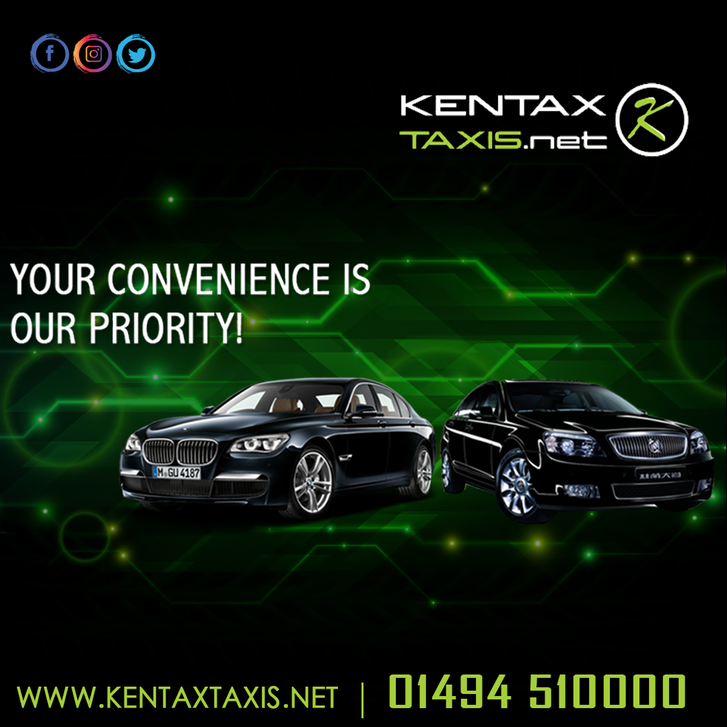 Kentax is your local taxi company, providing a 24hr taxi service in High Wycombe and the surrounding towns & villages like Bourne End since 1997. Other 3