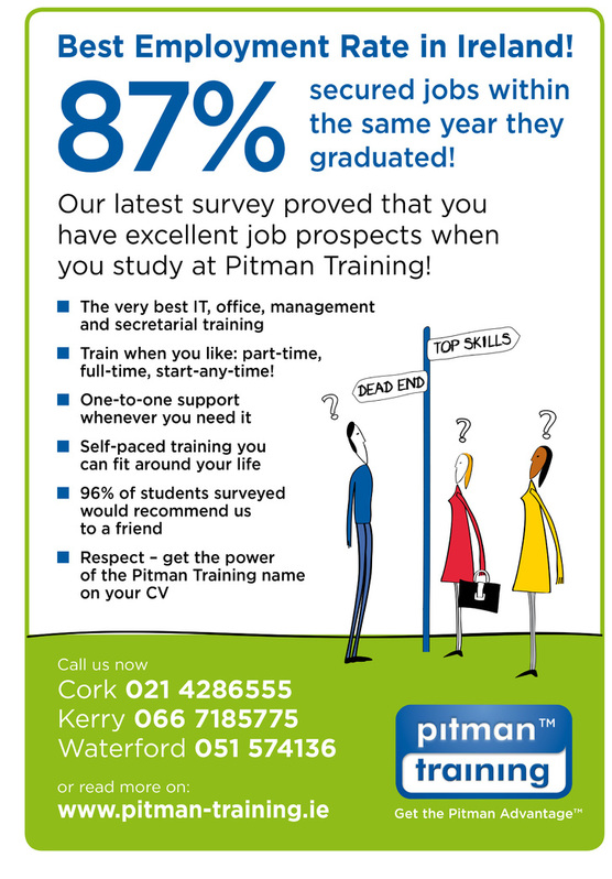 Pitman Training Waterford - Now enrolling in over 450 training courses Jobs & Courses 2