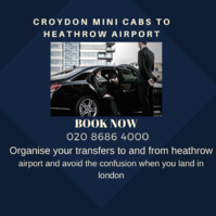 Croydon Minicabs to Heathrow Airport Anytime. We Serve 24 hours a day, 365 days a year for ✓Croydon Airport Transfers ✓Croydon Airport Taxis ☎ 020-8686-4000