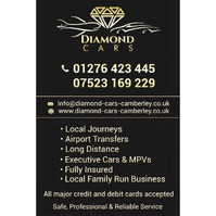Diamond Cars Camberley, Camberley Taxi Service.