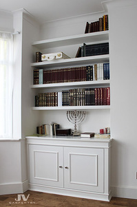 Fitted furniture for London properties. Fitted wardrobes, alcove cupboards, shelving