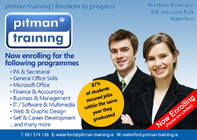 Pitman Training Waterford - Now enrolling in over 450 training courses