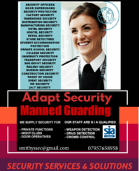 Adapt Security Manned Guarding Ltd, Security Services