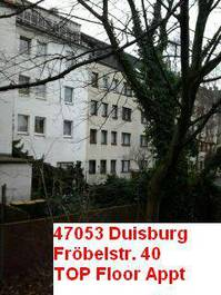 Single flat top floor condo Duisburg